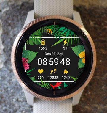 Garmin Watch Face - Hawai Flower G
