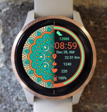 Garmin Watch Face - Spring Mandala