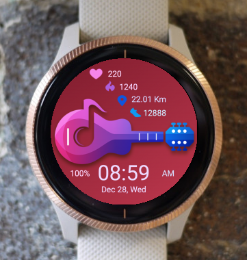 Garmin Watch Face - Guitar 02