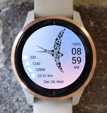 Garmin Watch Face - Bird 09