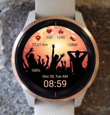 Garmin Watch Face - Summer Party
