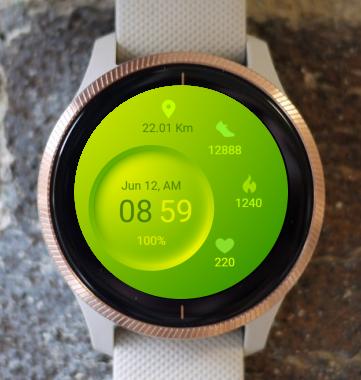 Garmin Watch Face - Green Plate
