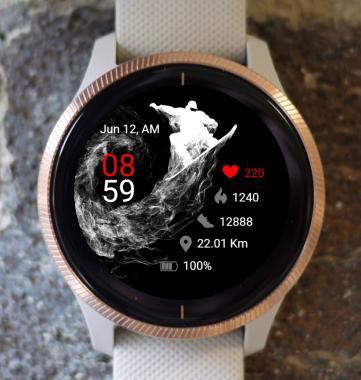 Garmin Watch Face - Snowboard 02