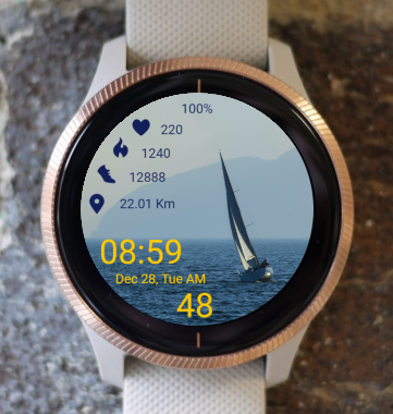 Garmin Watch Face - Sailboat 03