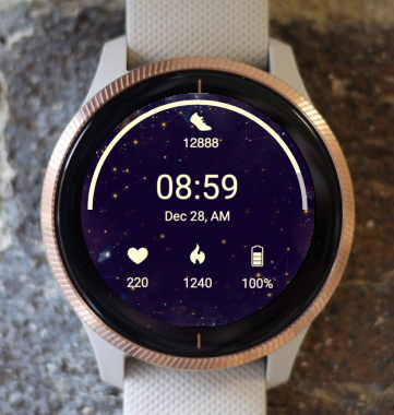 Garmin Watch Face - Night Sky 2