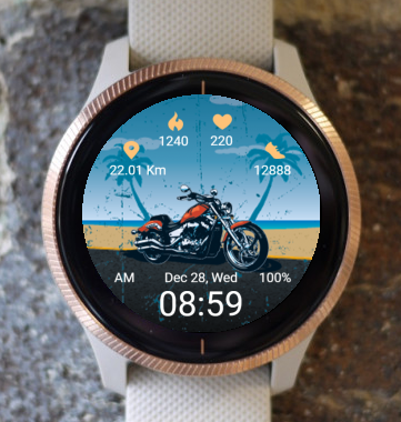 Garmin Watch Face - On The Road