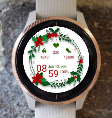 Garmin Watch Face - Christmas Circle