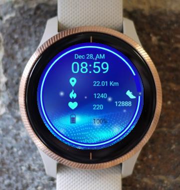 Garmin Watch Face - Quantum Vibration