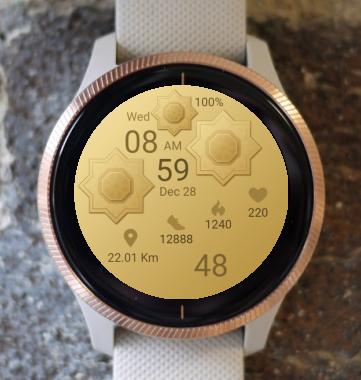 Garmin Watch Face - Gold Mandala