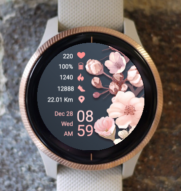 Garmin Watch Face - Pink Flower