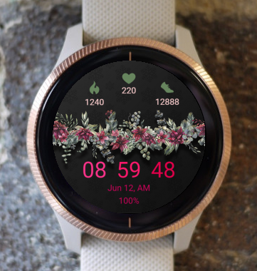Garmin Watch Face - Flower Colors