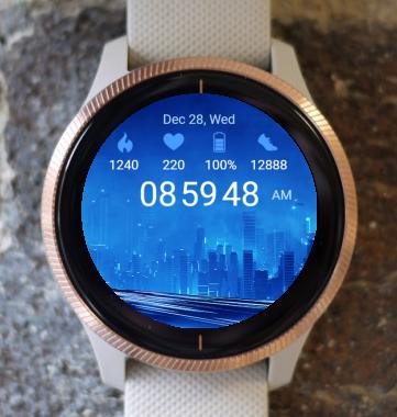 Garmin Watch Face - Blue City