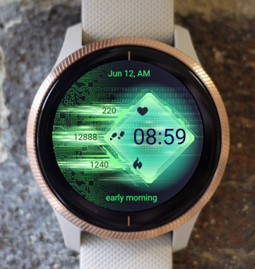 Garmin Watch Face - Neon Cube