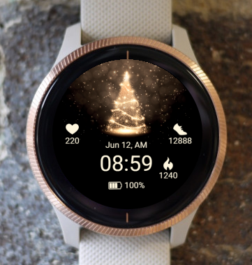 Garmin Watch Face - Christmas lights