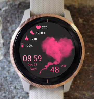 Garmin Watch Face - Heart Cloud