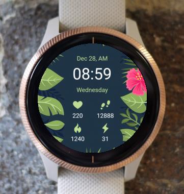 Garmin Watch Face - Flower Leaf G