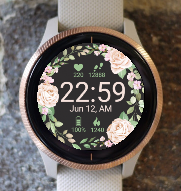 Garmin Watch Face - Roses