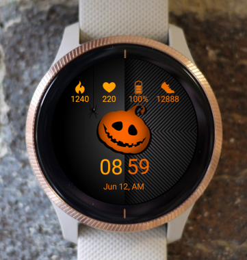 Garmin Watch Face - Pumpkin Head