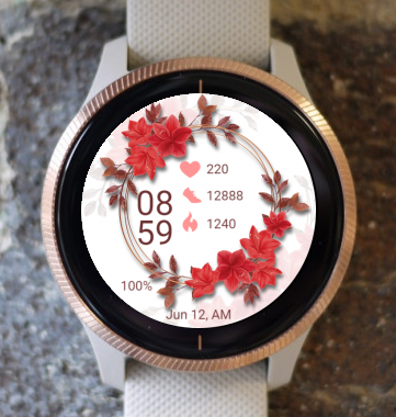 Garmin Watch Face - Flower RNG