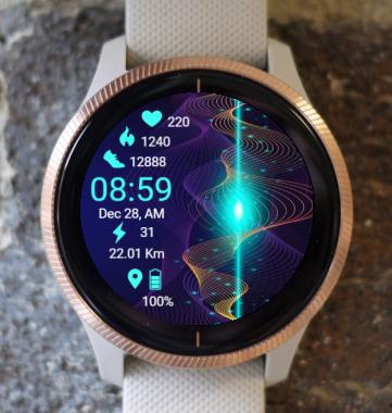 Garmin Watch Face - Light Spiral B
