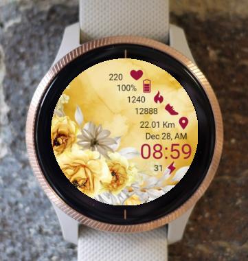 Garmin Watch Face - Amber Color