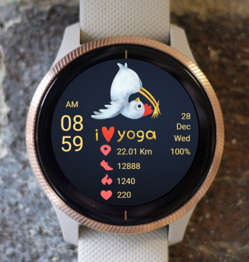 Garmin Watch Face - Yoga 04