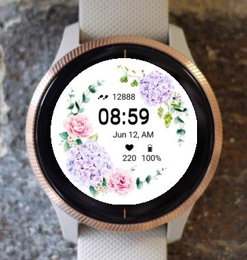 Garmin Watch Face - Flower Fair 24