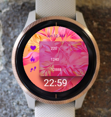 Garmin Watch Face - Pink Orange