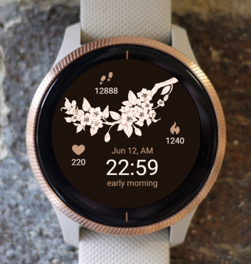 Garmin Watch Face - Rose Tree G
