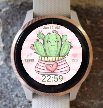 Garmin Watch Face - Heart Cactus G