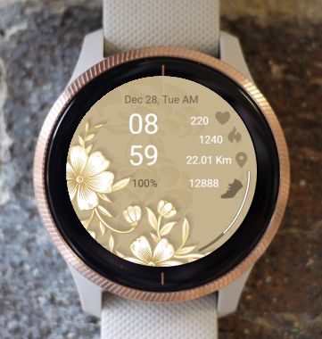 Garmin Watch Face - White Flower
