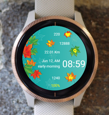 Garmin Watch Face - Falling leaves