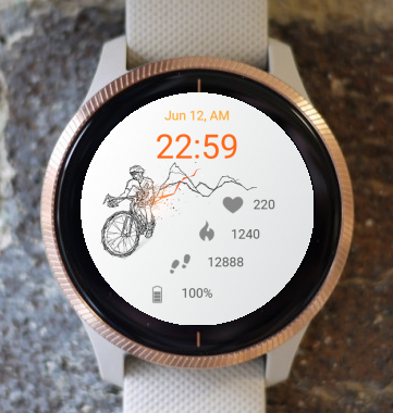 Garmin Watch Face - Bicycle