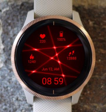 Garmin Watch Face - Red Web