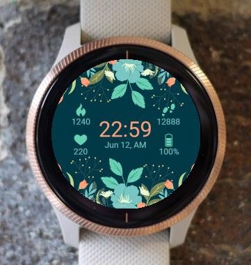 Garmin Watch Face - Flower Dream G