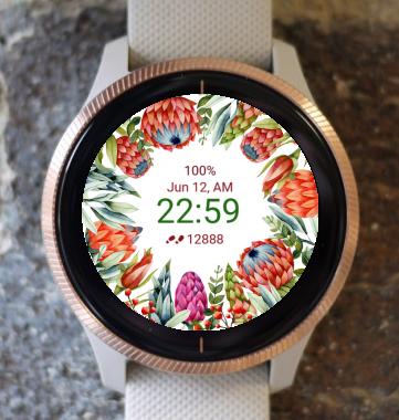 Garmin Watch Face - Flower Fair 19