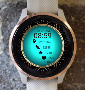 Garmin Watch Face - Turquoise RR