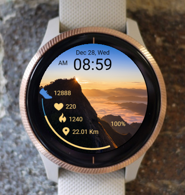 Garmin Watch Face - Mountain 03