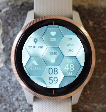 Garmin Watch Face - Blue Abstract