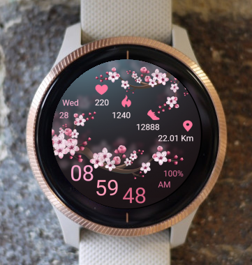 Garmin Watch Face - Spring Flowers
