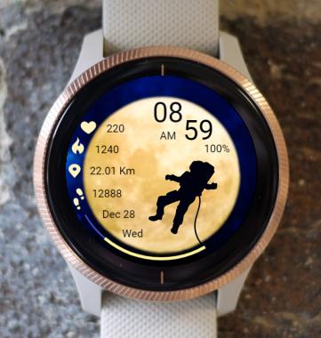 Garmin Watch Face - Space Walk