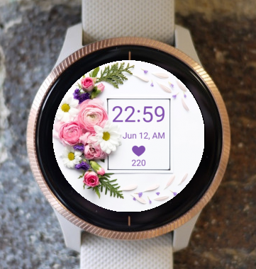 Garmin Watch Face - Flower Circle2