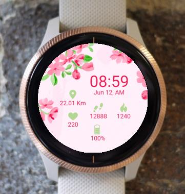 Garmin Watch Face - Flower Garden G