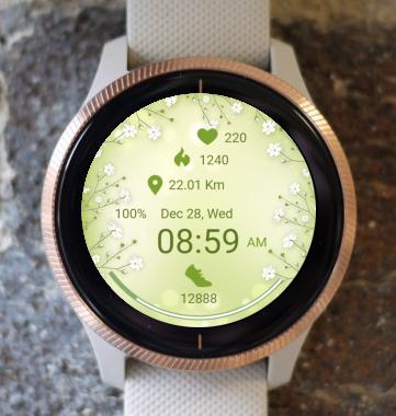 Garmin Watch Face - Green Spring
