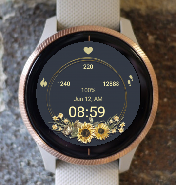 Garmin Watch Face - Dry Flowers