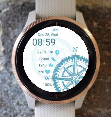 Garmin Watch Face - Travel
