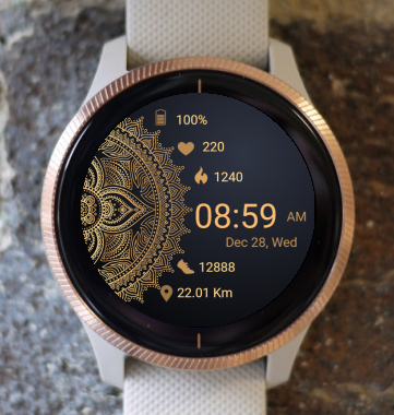 Garmin Watch Face - Mandala T4