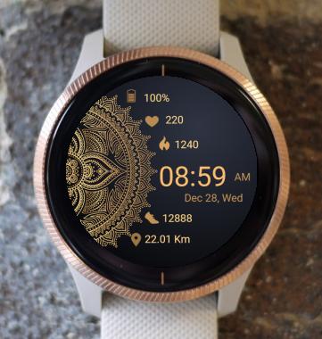 Garmin Watch Face - Mandala T4