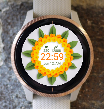 Garmin Watch Face - Flower Circle G
