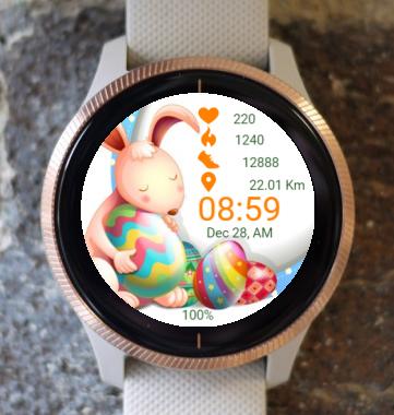 Garmin Watch Face - Hi Easter